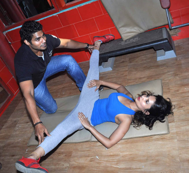 rachana shah's fitness workout hot photoshoot