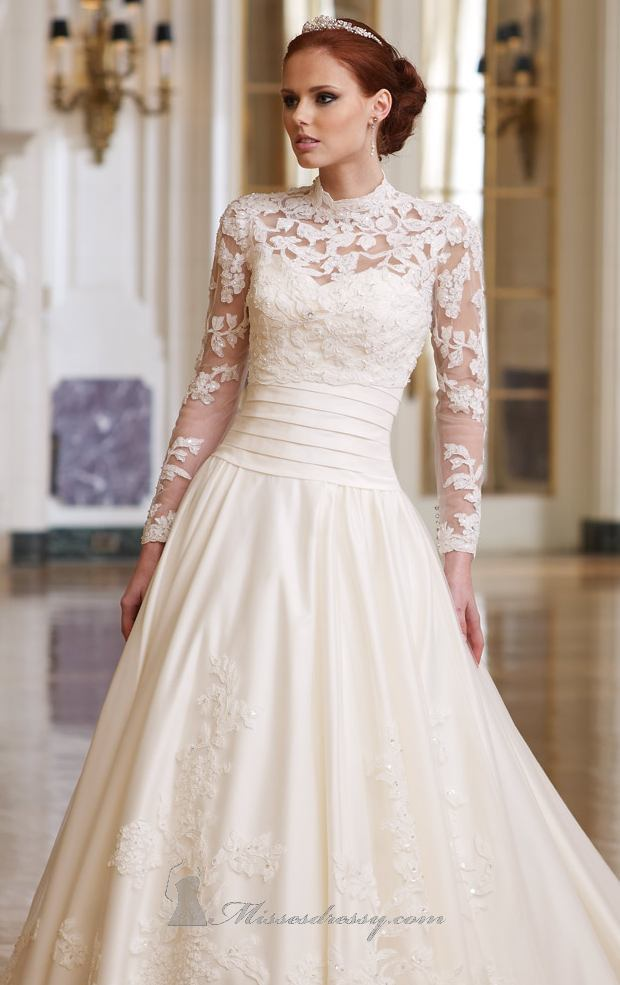 Lace Wedding Dress With Color Underneath 22