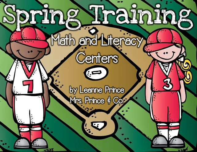 http://www.teacherspayteachers.com/Product/Spring-Training-Baseball-Math-and-Literacy-Centers-638835