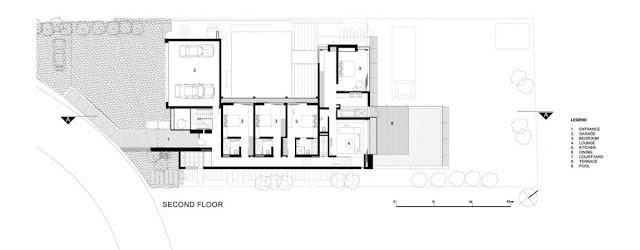 Floor plan of the second floor of Glen House
