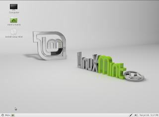 Linux Mint 11 Live mód