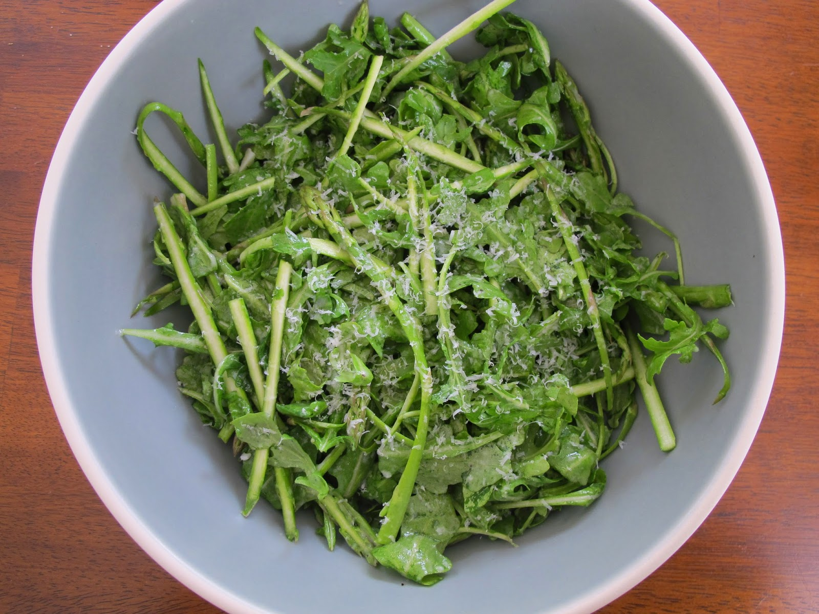 Shaved Asparagus and Arugula Salad