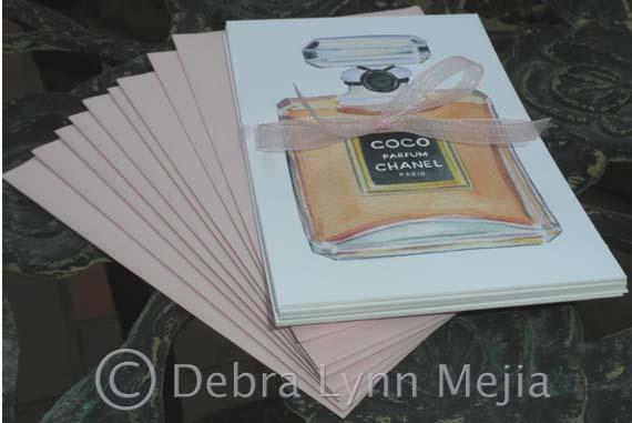 debra lynn mejia New Item Coco Chanel Flat Notecard Set