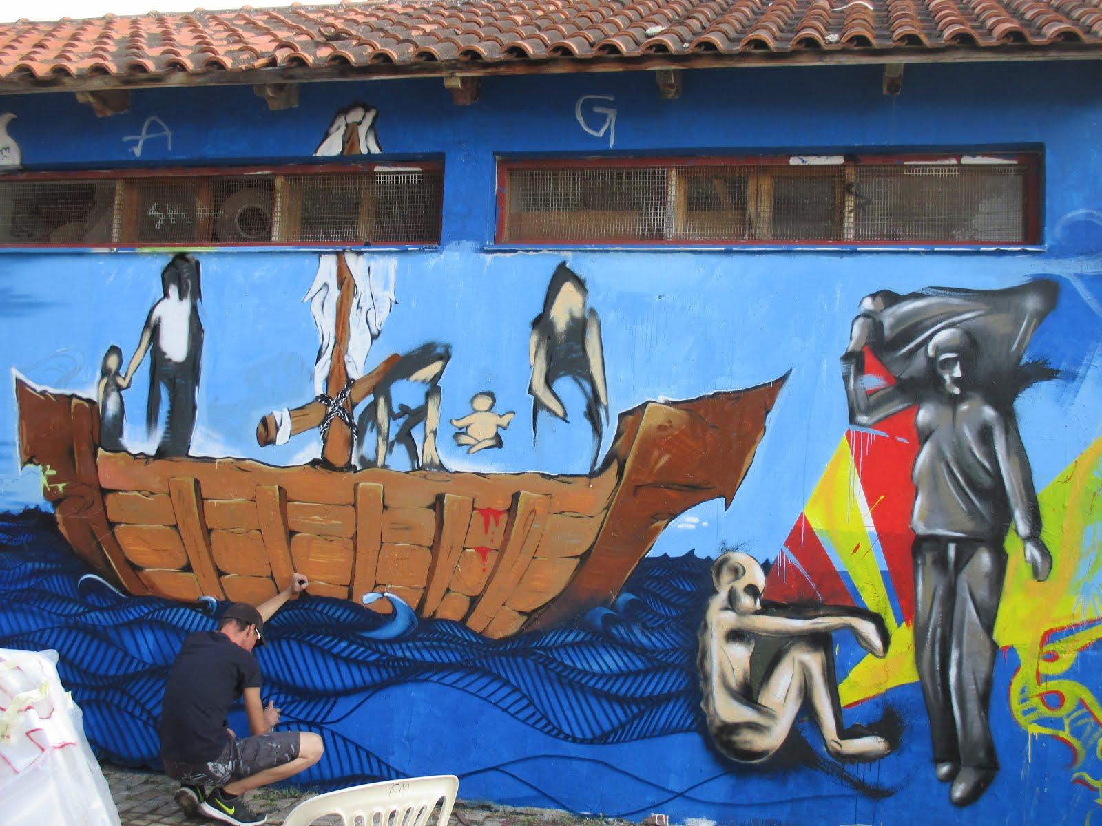 Graffiti Art at the Anti-Racist Festival, Chania, Crete, June 2015