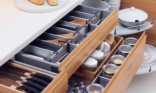 Cozinhas planejadas: Gavetas de cozinha