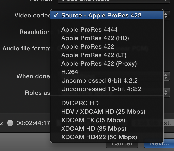 how to export final cut pro to dropbox