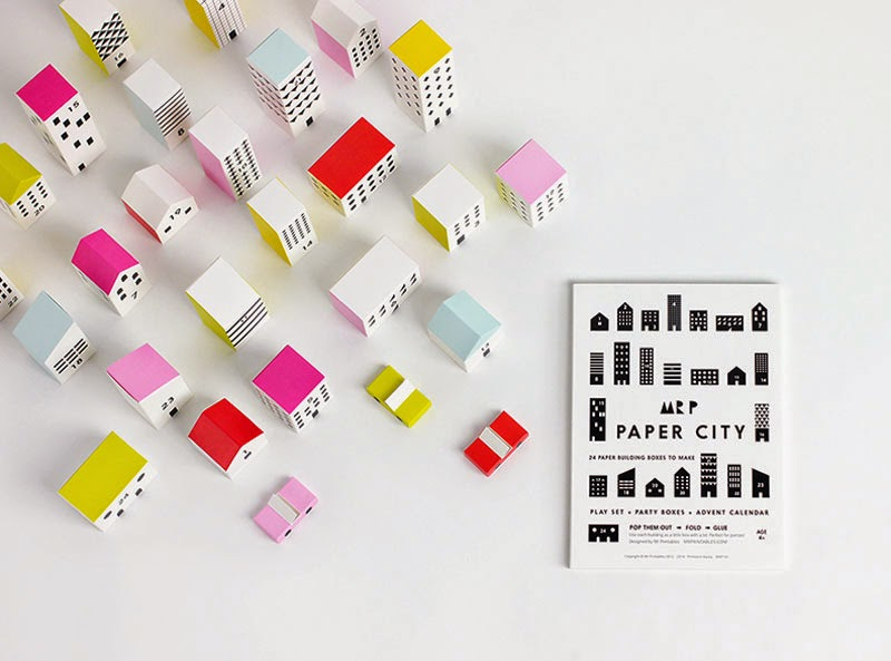 Calendario de adviento Paper City de Mr. P Shop