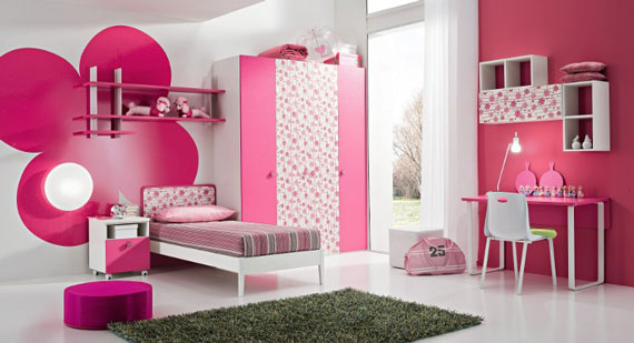 Cute Yellow Teenage Girls Bedroom Interior Decorating Ideas 570x309