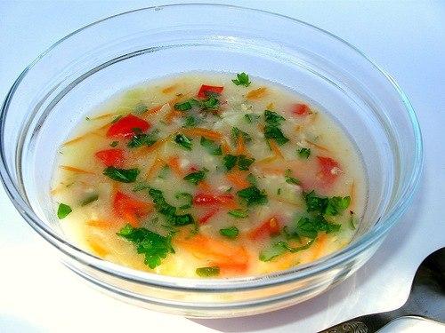 Овсяный сыроедный суп