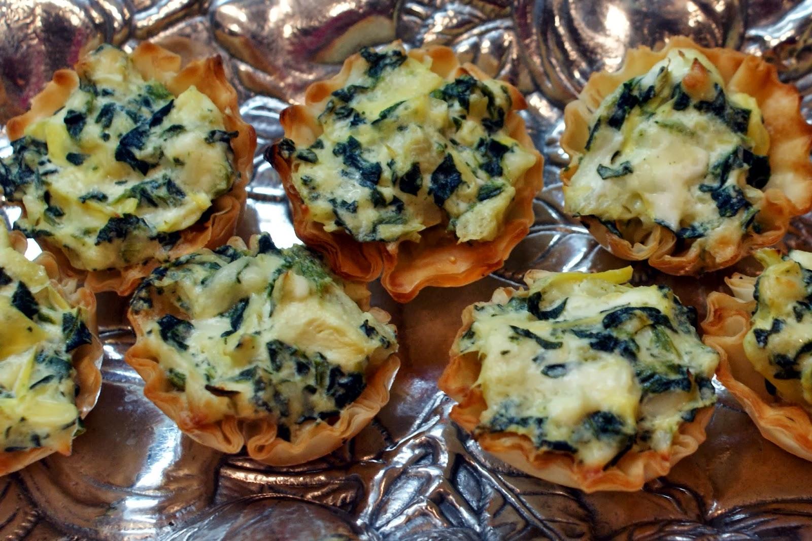 The Baker's Mann: Spinach-Artichoke Cups