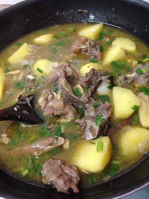 sup tulang special, resepi mudah, ikan pekasam