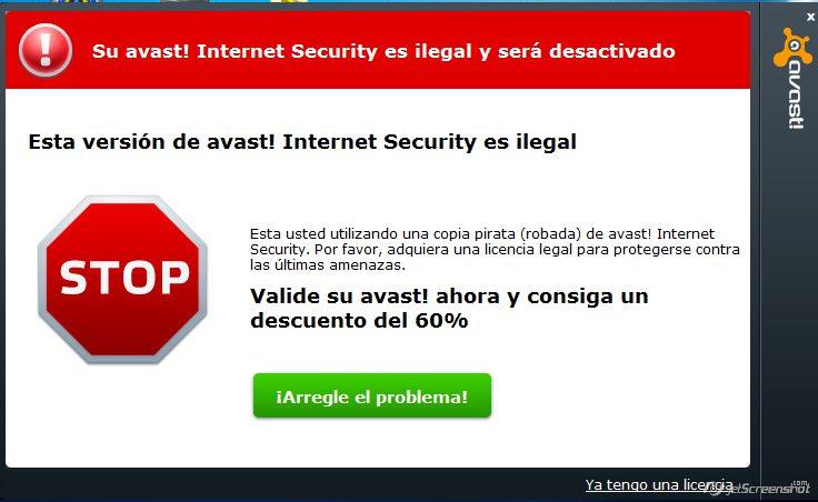 Solución al Problema de Avast! Internet Security!