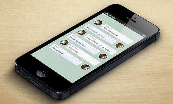 Chat messages GUI PSD