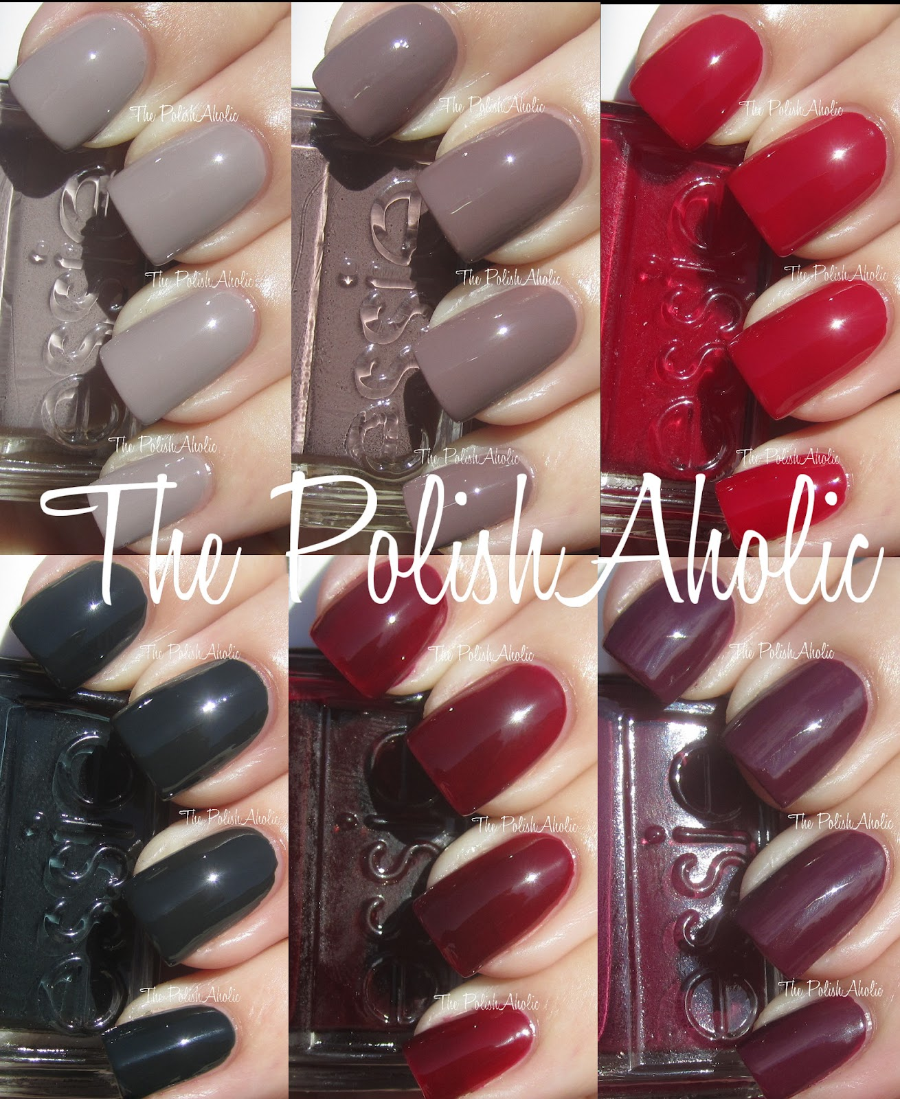 The PolishAholic: Essie Fall 2012 Stylenomics Collection Swatches