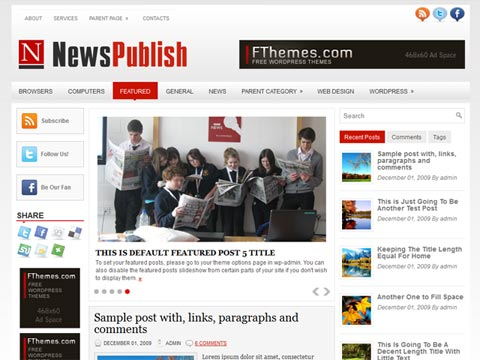 NewsPublish Free WordPress Theme