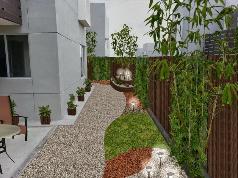 Renders 2D  Diseño de Jardines sobre Fotografía  Fotos Ántes y