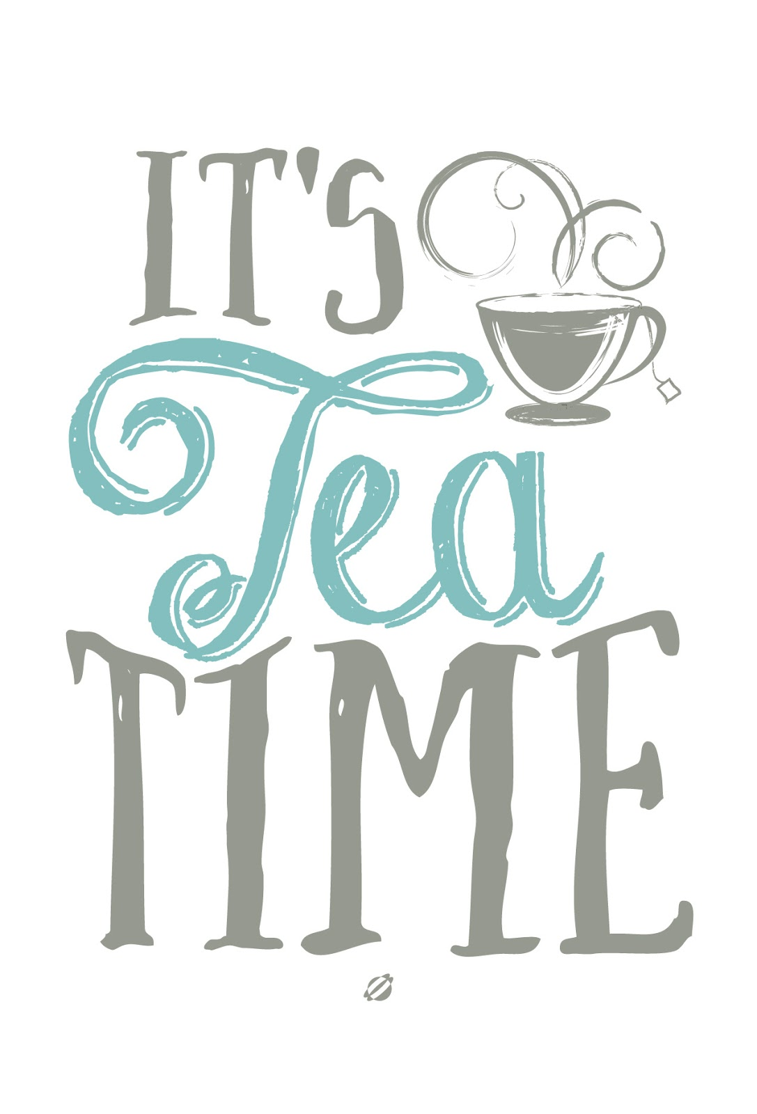 LostBumblebee ©2014 It's Tea Time - Free Printable- PERSONAL USE ONLY.