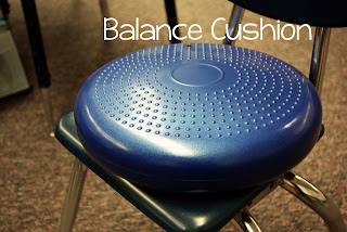 "Balance Cushion: A great way to help those ""wiggly"" kiddos!"
