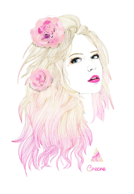 Crecre flowers girl - Dessin de fille de mode ...