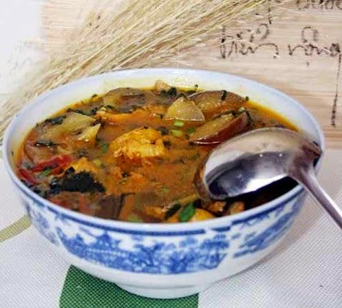 Cách nấu Canh cà tím Bung 2