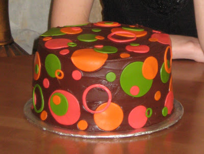Polka Dot Cake - Post Refrigeration