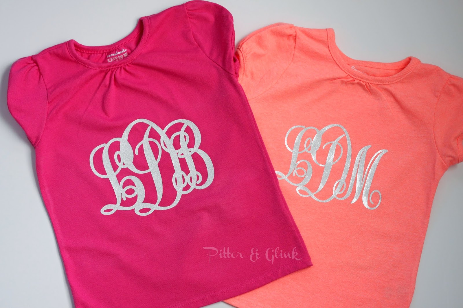 Create a Monogrammed T-shirt with Silhouette Heat Transfer Material: A Tutorial from Pitter and Glink