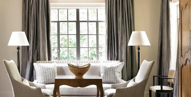 a perfect gray: Folks, It's Curtains. Gray Curtains.