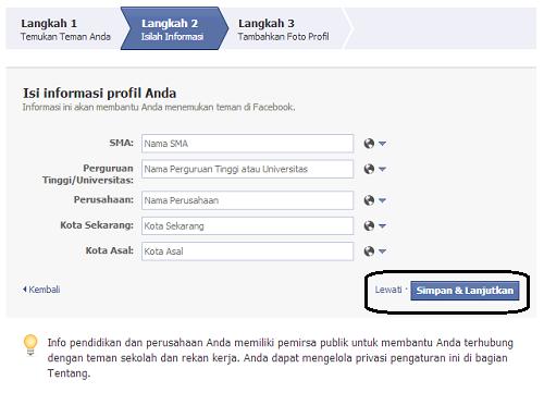 Langkah 3 Cara Membuat FB
