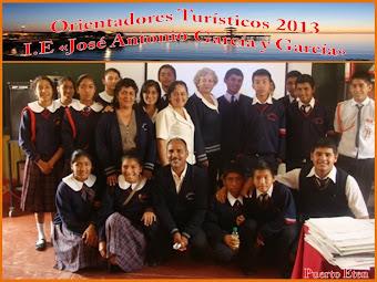 EQUIPO Y ORIENTADORES TURÍSTICOS 2013