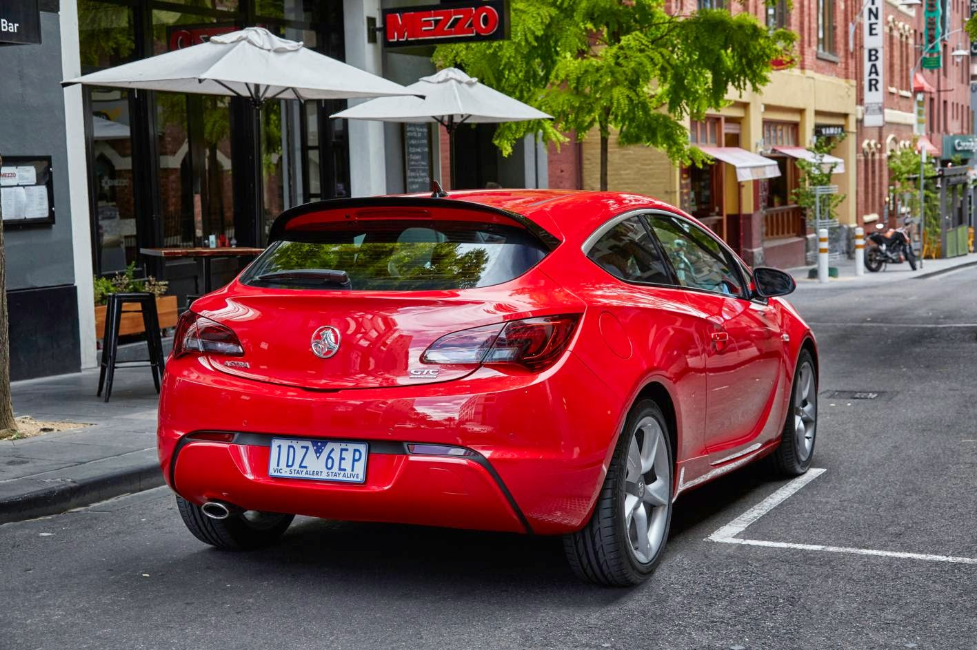 New Holden Astra GTC looks good from behind too