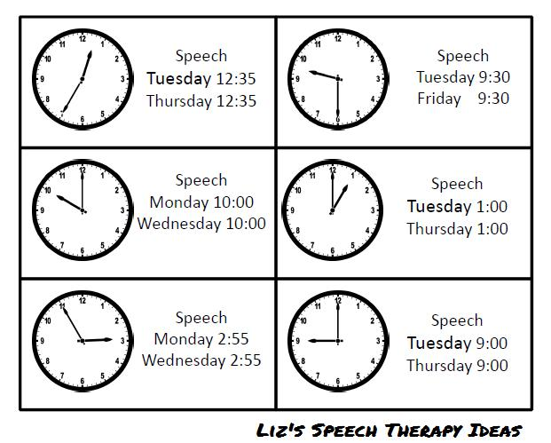 time for speech