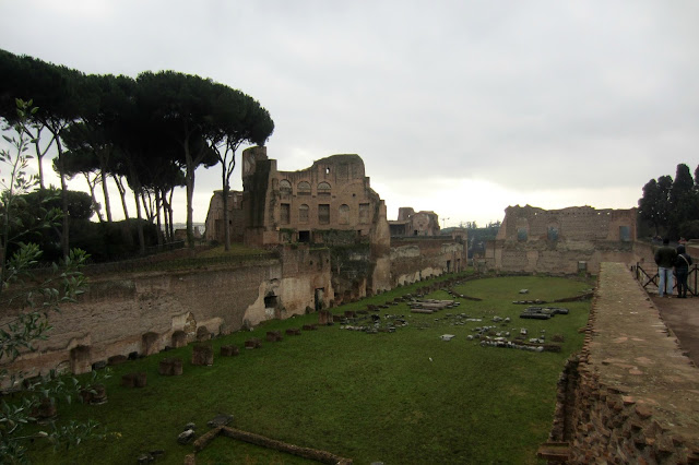 roman forum palatine hill rome italy