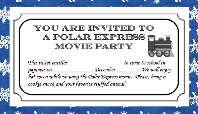 Polar Express Movie Party Ticket and More! | Erica's Ed-Ventures