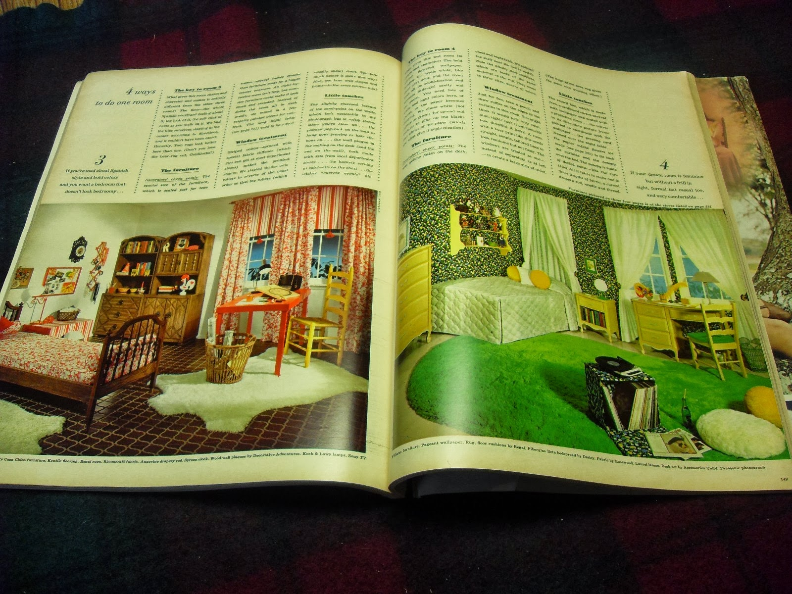 Seventeen Bedroom Gold Country Girls Bedrooms From Seventeen Magazine The 60s