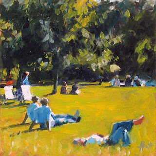 Saturday in St.James Park by Liza Hirst