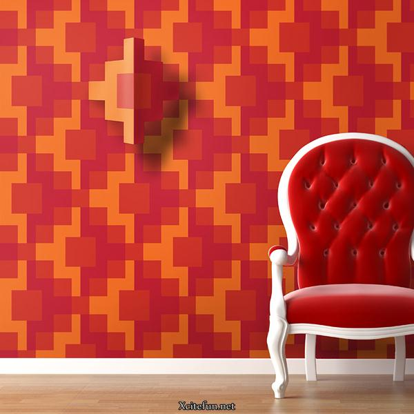 Decorate your wall with wallpapers and stickers for Wallpapers to decorate walls