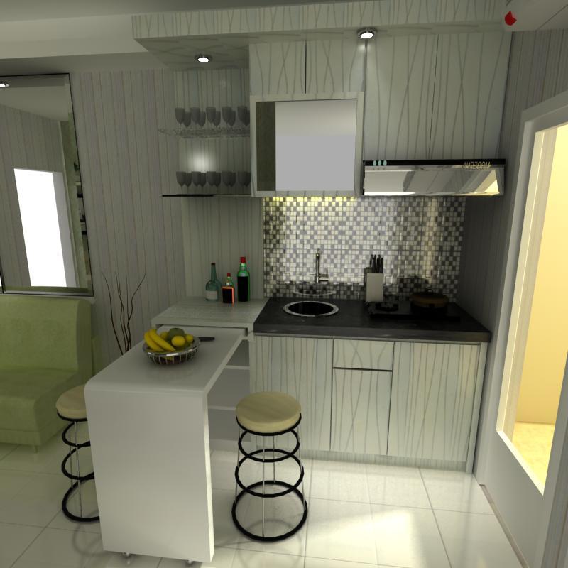 Desain interior dapur apartemen infinity interior jakarta Kitchen set di jakarta design center