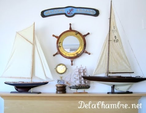 nautical fireplace mantel