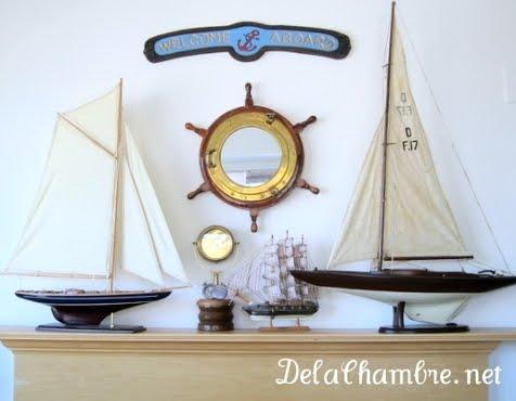 nautical fireplace mantel