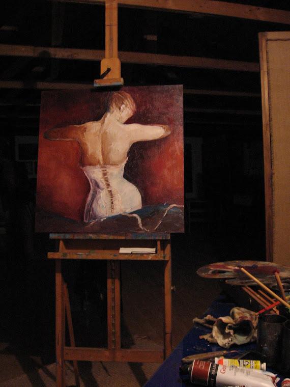Mujer en Blanco - Oleo s/tela