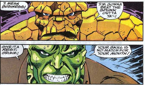 Hulk Thing showdown Fantastic Four 368