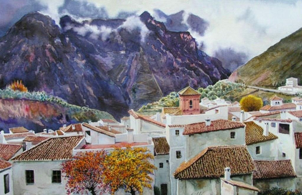 Pinturas cuadros lienzos paisajes en acuarela - Papel pintado paisaje ...