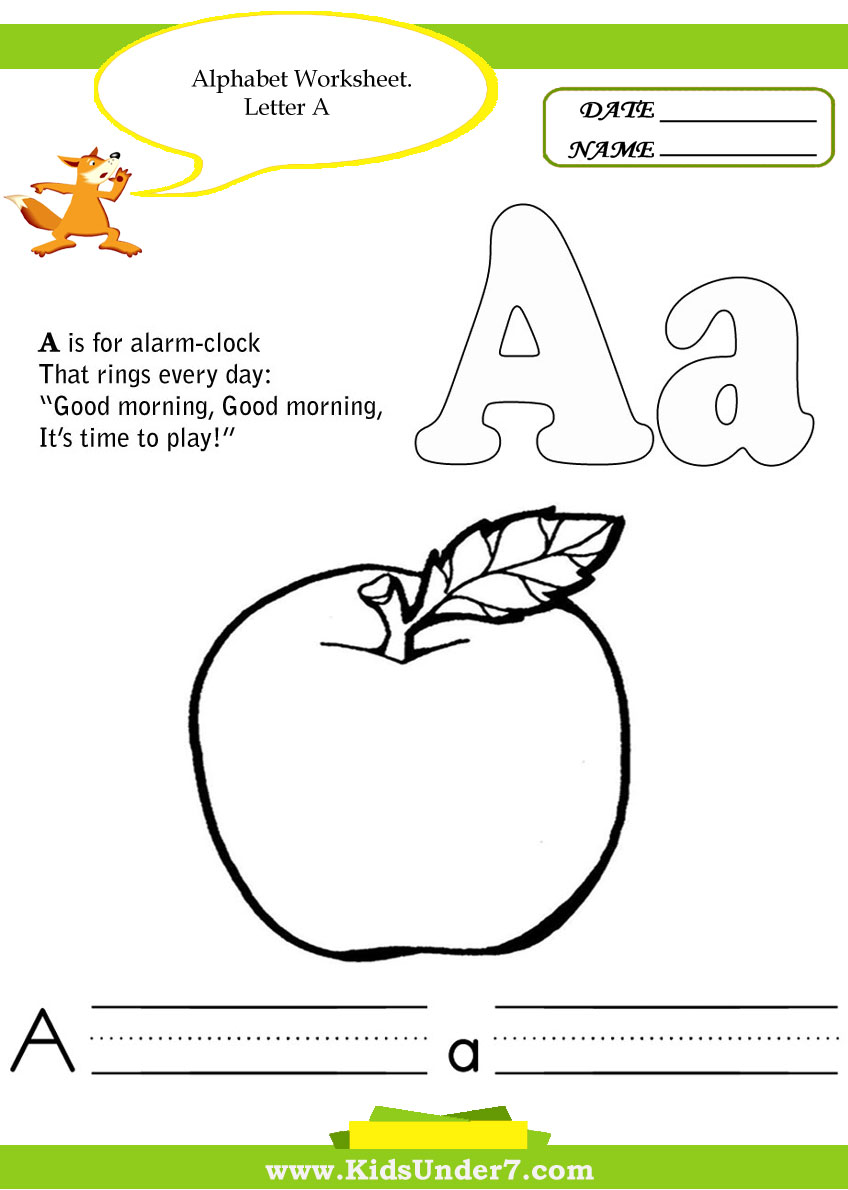 Kindergarten Letter Worksheets : Alphabet handwriting worksheets for kindergarten
