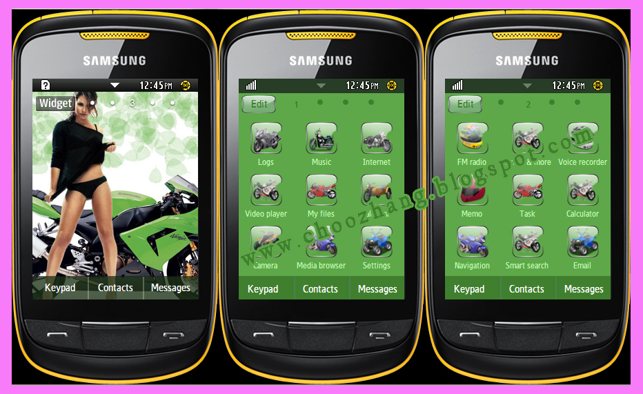Where can I download Samsung Corby 2 themes