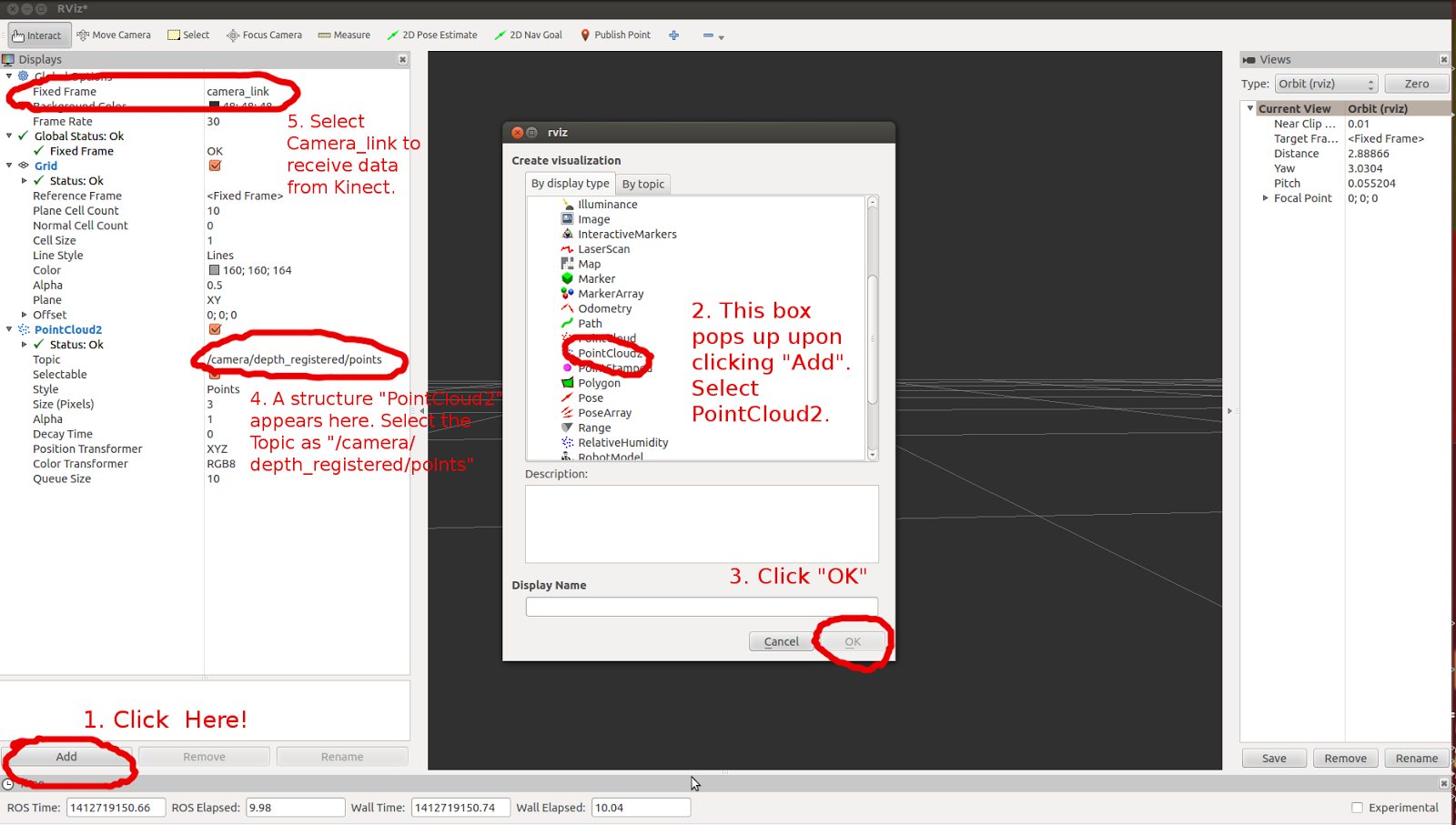 Swagatika@Work: Grab Pointclouds and save as pcd files using ROS and