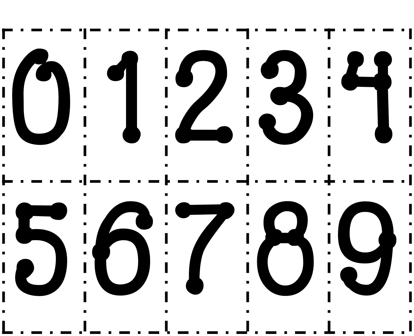 Printable Number Cards 0 9 on Large Printable Number Cards 1 20