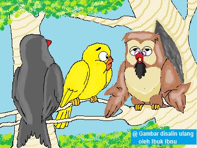cerita fabel: burung gagak