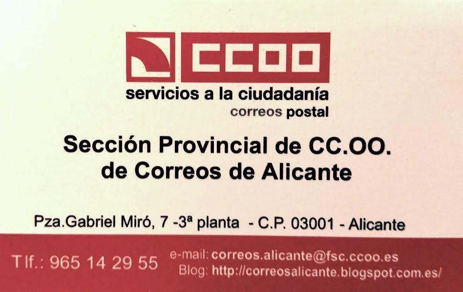 DIRECCIÓN S.S CORREOS ALICANTE