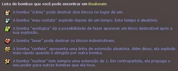 Bouboum - Guia de bombas