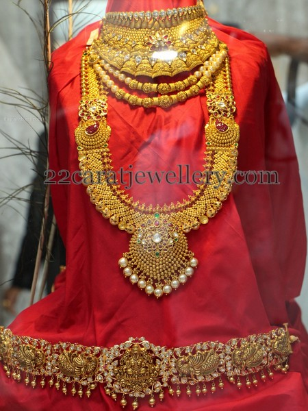 Peacock Vaddanam And Bridal Jewelry Jewellery Designs